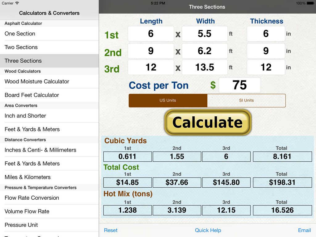 App shopper asphalt calculator productivity