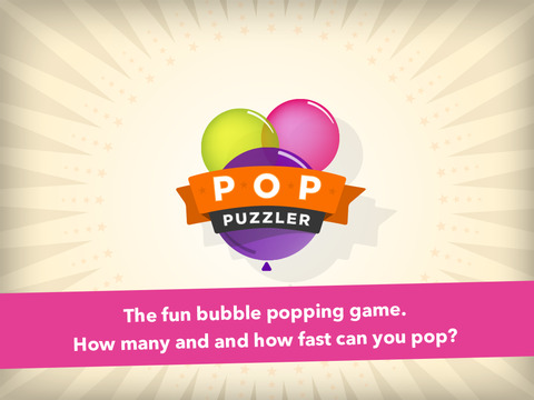 Pop Puzzler Bubble Popping Game