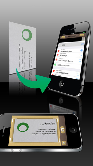 SamCard-business card reader business card scanner visiting card