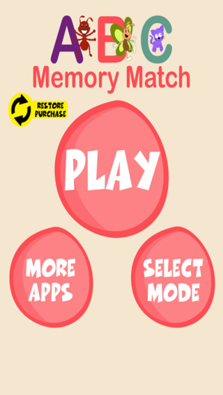 ABC Memory Match for Kids