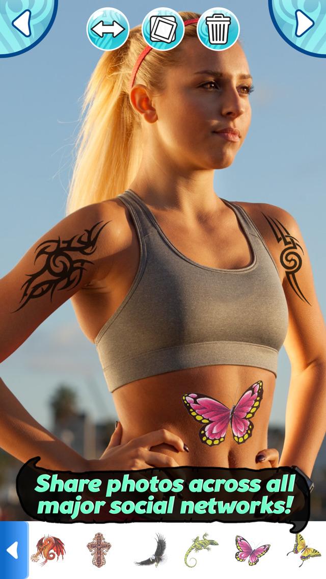 App shopper tattoo maker photo editor and fake ink for Fake tattoo creator