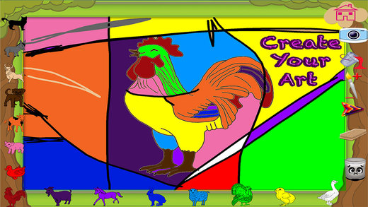 Coloring Farm - Farm Domestic Animals Educational Fun Coloring Pages Learning Experience