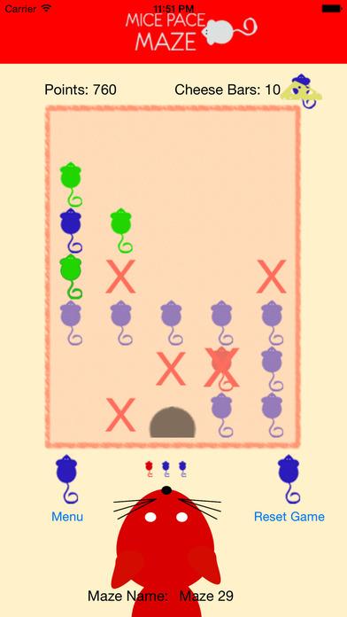 MicePaceMaze Squares iPhone Screenshot 1