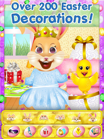 Easter Bunny Dress Up and Card Maker - Decorate Funny Bunnies & Eggs screenshot