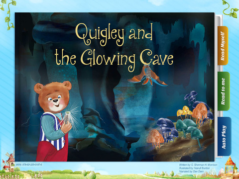 Quigley and the Glowing Cave - Have fun with Pickatale while learning how to read