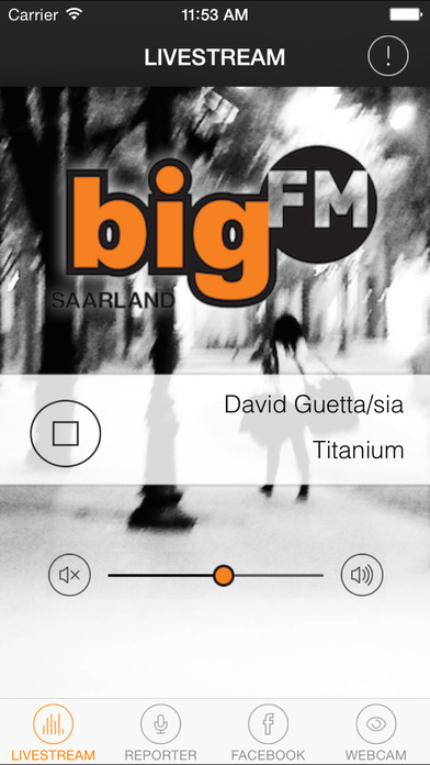 bigFM Saarland iPhone Screenshot 1