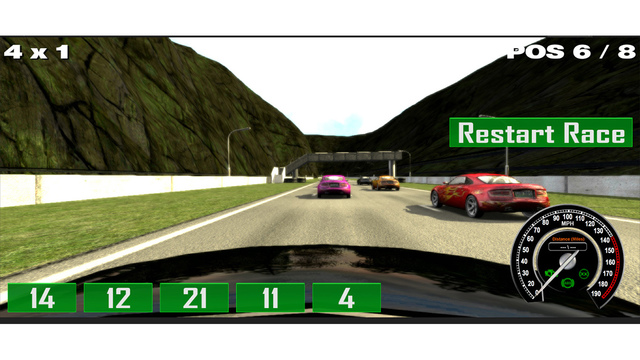 Multiplication Racing Game Screenshots