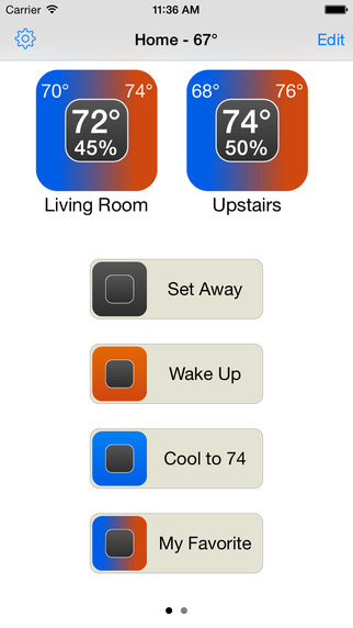 QuickActions for Nest - Easily control your thermostats with saved quick actions