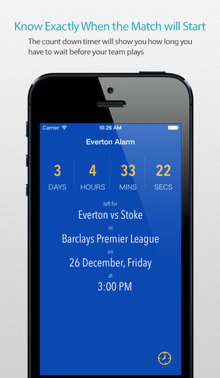 Everton Alarm Pro — News live commentary standings and more for your team