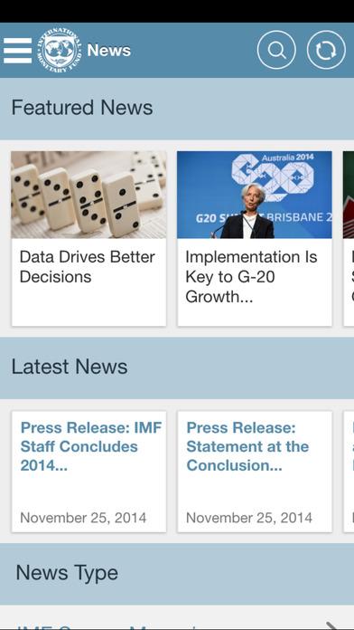 IMF News and Data for the iPad iPhone Screenshot 2