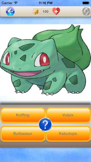 Monster Quiz - Pokemon Edition Guess Monsters Photo Trivia Poké Games