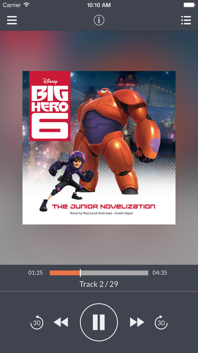 Big Hero 6: The Junior Novelization by Disney Press UNABRIDGED AUDIOBOOK