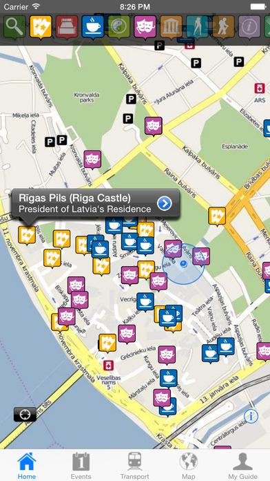 Riga Travel Guide Offline iPhone Screenshot 1