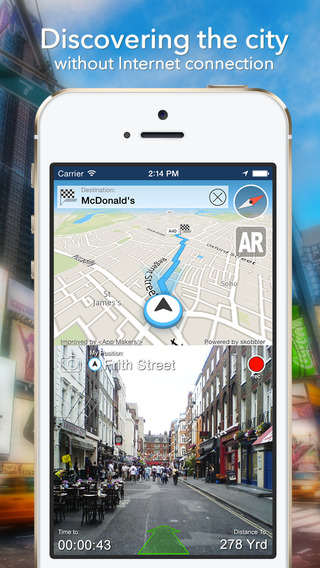 China Offline Map + City Guide Navigator Attractions and Transports