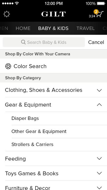 Gilt - Shop Designer Sales - iPhone Mobile Analytics and App Store Data