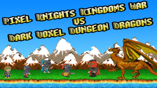 Pixel Knights Kingdoms War vs Dark Voxel Dungeon Dragons FREE