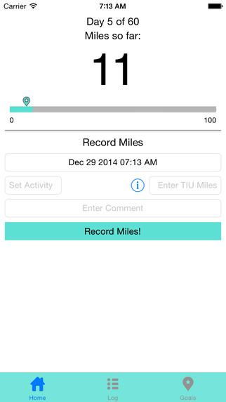TIU Miles Tracker