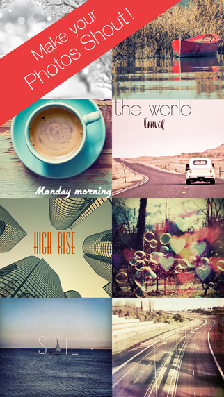 Light-Speed - add typography text on photo word-swag with pic collage