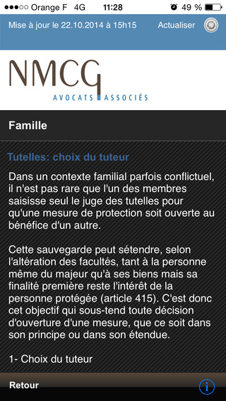 Avocats Paris iPhone Screenshot 2