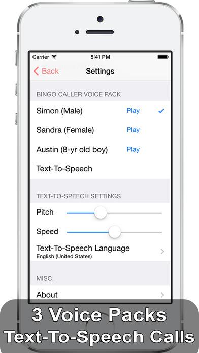 iBingo Caller iPhone Screenshot 3