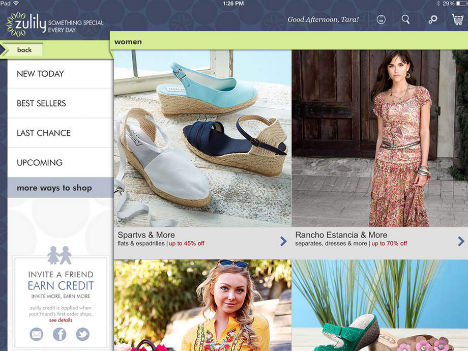 zulily - iPhone Mobile Analytics and App Store Data