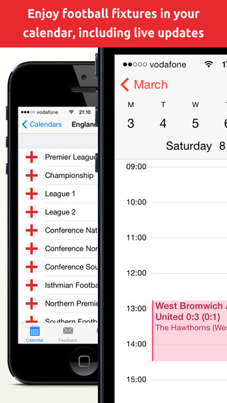 Football Fixtures Calendar 2014 2015 - Matches and live results in your calendar FootballCal