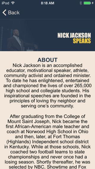 Nick Jackson Speaks