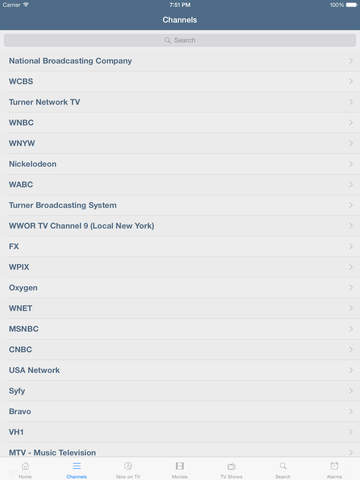 Television for New York iPad version