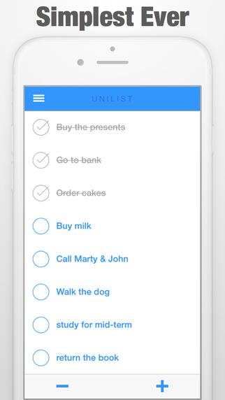 UNILIST - Todo List Remainder Tasks -