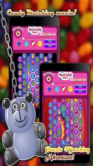 Sweet Candy Animals ~ Match the Sweet Animal-s to Crush them and Win
