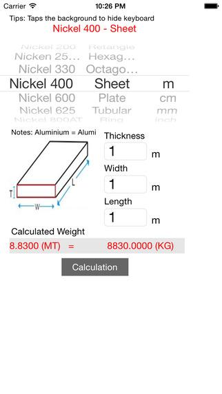 Metals Weight