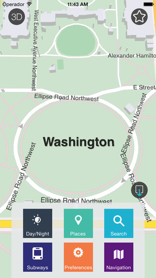 Washington D.C. - Offline Map