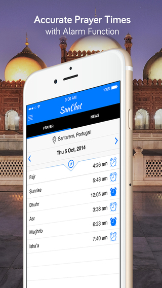 SunChat - Qibla Compass Islamic Prayer Times News