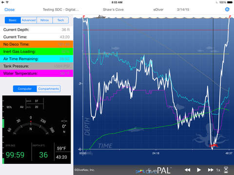 divePAL Plan Analyze and Log Dives