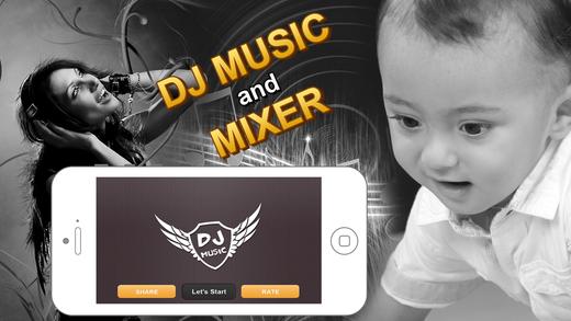 DJ Music : Digital party sound mixer