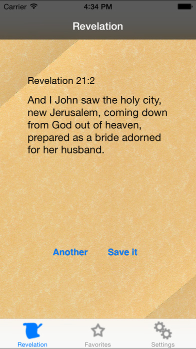 Revelation - Random verses from last book of the Bible iPhone Screenshot 1