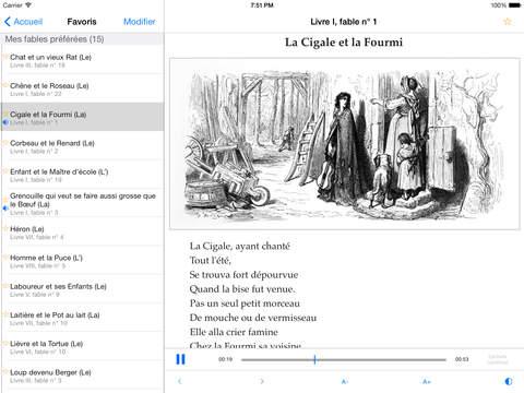 Fables, Jean de La Fontaine iPad Screenshot 1
