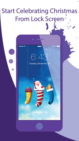 Christmas Wallpapers Backgrounds Pro - Cool home lock screens with gallery of xmas patterns textures