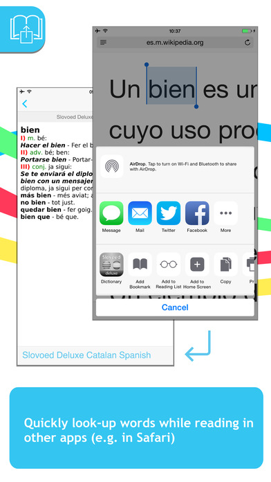 Spanish <-> Catalan Slovoed Deluxe talking dictionary iPhone Screenshot 3