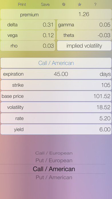Black scholes calculator for stock options