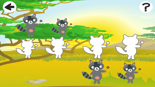 Animals of the World Game: Play and Learn sizes for Children