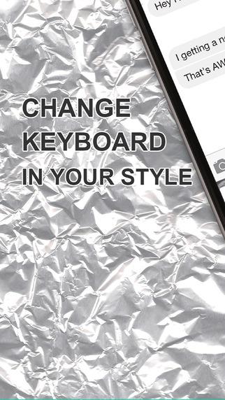 Custom Keyboard Metallic : Style Wallpaper Keyboard Steel Themes For Design Iron Color