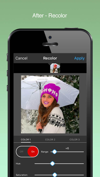 Video Color Editor - Change Video Color, Splash and Adjust Movie Clips Screenshots
