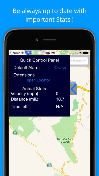 iSlept - GPS Alarm - Never Miss your Stop! Screenshots
