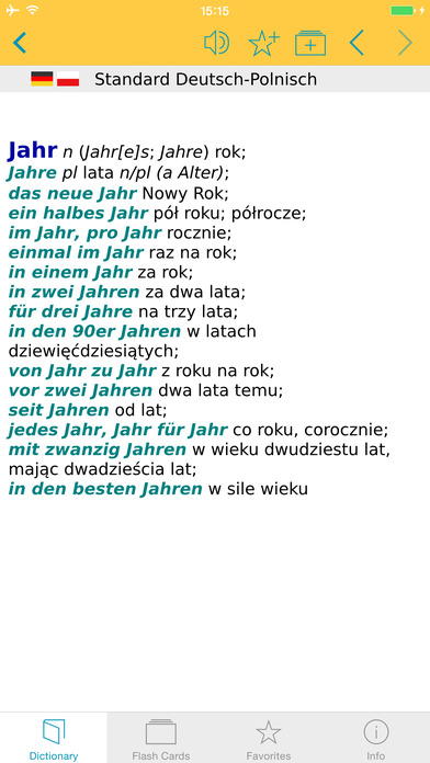 Polish <-> German Dictionary Langenscheidt Standard iPhone Screenshot 1