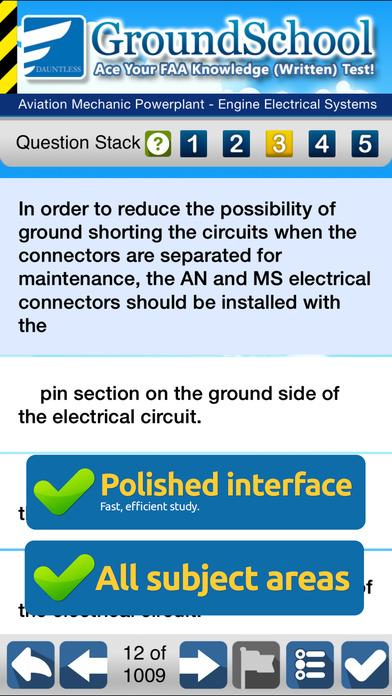 GroundSchool FAA Knowledge Test Prep - Aviation Mechanic Powerplant iPhone Screenshot 3