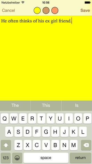 Writers App BASIC