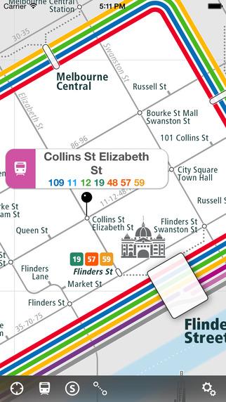 Melbourne Rail Map Lite
