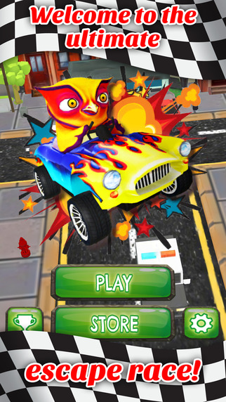 Hoot Of A Ride Go Kart Owl Dash - FREE - Fast City Stunt Rally Race Game