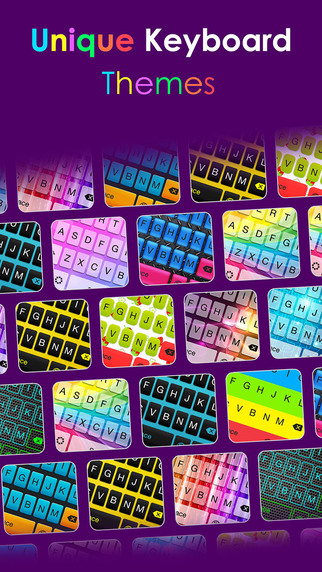 Unique keyboard Free - Color Keyboard design and backgrounds for iPhone iPad iPod
